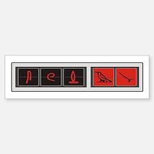 Lost Hatch Heiroglyphs Bumper Stickers