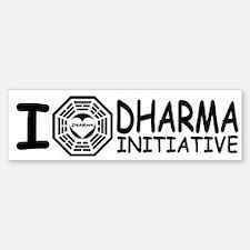 I Love DHARMA Initiative Lost Bumper Bumper Bumper Sticker