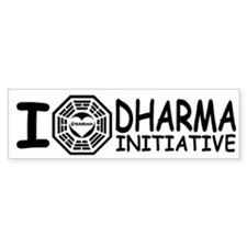 I Love DHARMA Initiative Lost Bumper Bumper Sticker