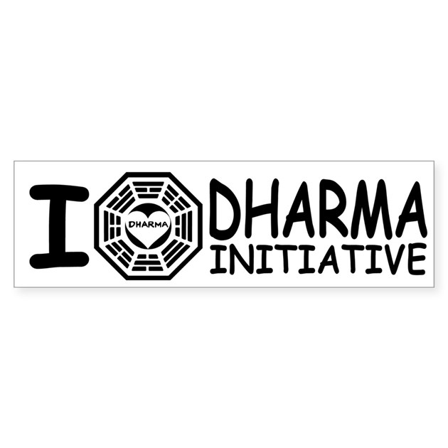 i love dharma initiative lost bumper bumper sticker by With kitchen colors with white cabinets with lost bumper stickers