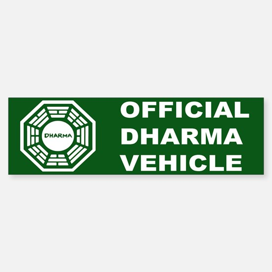Official DHARMA Vehicle Lost Bumper Bumper Bumper Sticker