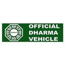 Official DHARMA Vehicle Lost Bumper Bumper Sticker