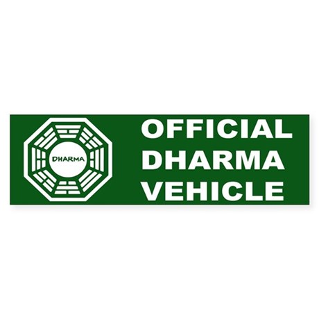 Official DHARMA Vehicle Lost Bumper Sticker