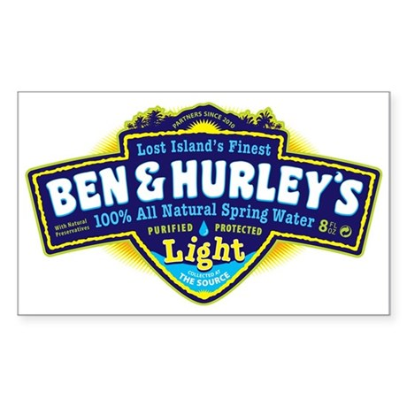 Ben & Hurley's Spring Water Sticker (Rectangle