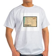 Oregon Stamp Ash Grey T-Shirt