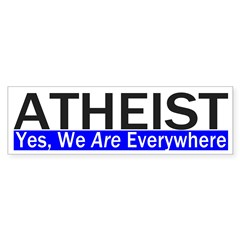 Atheist Everywhere Bumper Bumper Sticker