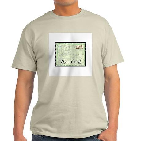 Wyoming Stamp Ash Grey T-Shirt