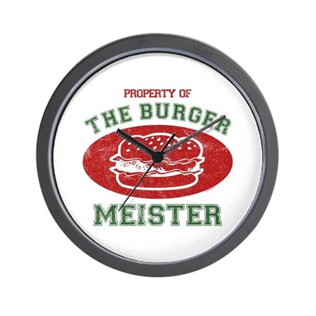 Property of Burger Meister Wall Clock