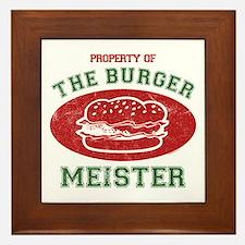 Property of Burger Meister Framed Tile