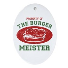 Property of Burger Meister Ornament (Oval)