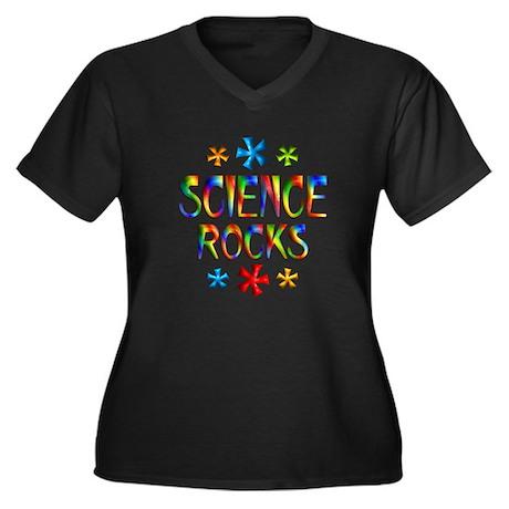 Science Women's Plus Size V-Neck Dark T-Shirt