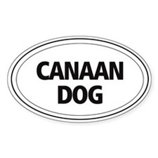 Canaan Dog Oval Decal