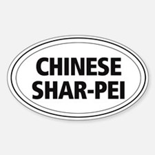 Chinese Shar-Pei Oval Decal