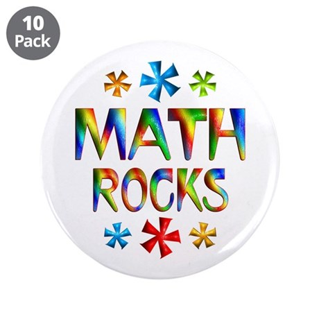"Math 3.5"" Button (10 pack)"