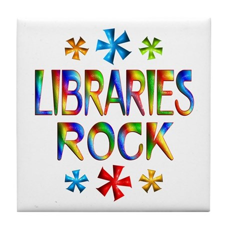 Libraries Tile Coaster