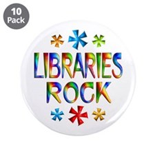 """Libraries 3.5"""" Button (10 pack)"""