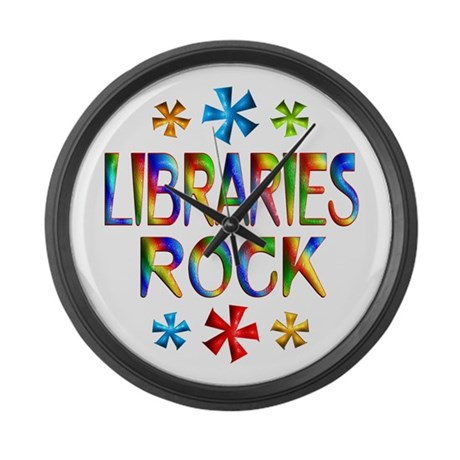 Libraries Large Wall Clock