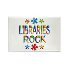 Libraries Rectangle Magnet (10 pack)