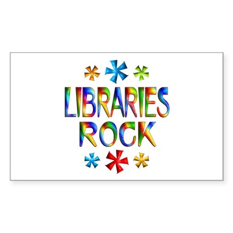 Libraries Sticker (Rectangle)