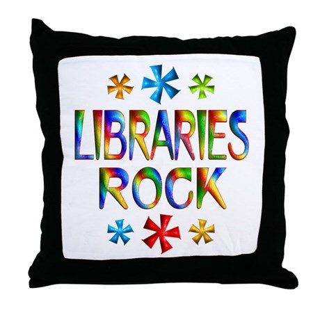 Libraries Throw Pillow