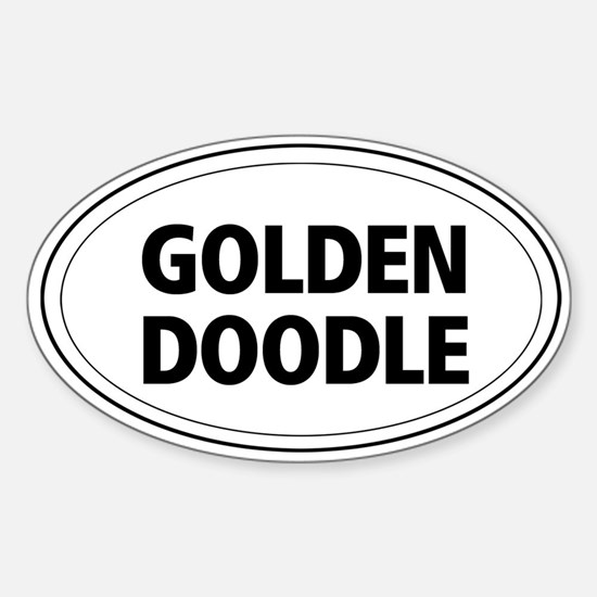 Golden Doodle Oval Decal