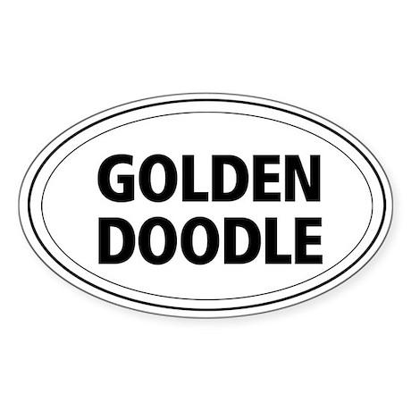 Golden Doodle Oval Sticker