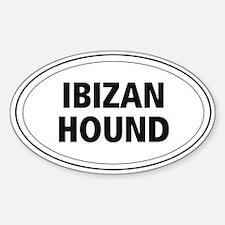 Ibizan Hound Oval Decal