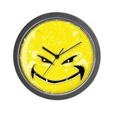 Smiley Face -Distressed Devil Wall Clock