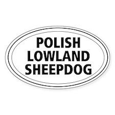 Polish Lowland Sheepdog Oval Decal
