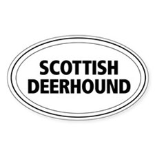 Scottish Deerhound Oval Decal