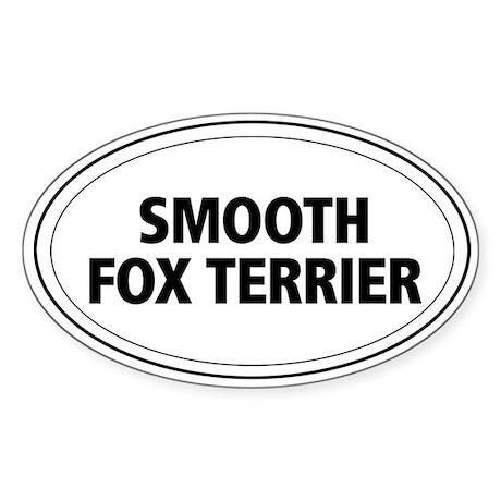 Smooth Fox Terrier Oval Sticker