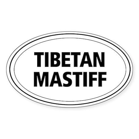 Tibetan Mastiff Oval Sticker