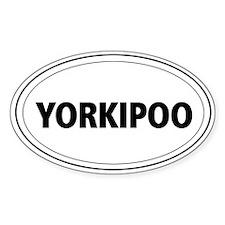 Yorkipoo Oval Decal