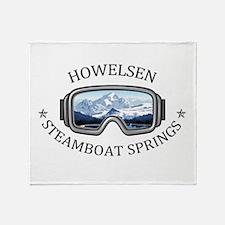 Howelsen Ski Area - Steamboat Spri Throw Blanket