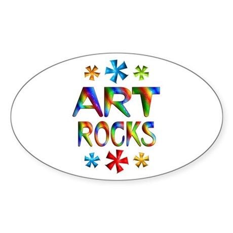 Art Sticker (Oval 10 pk)