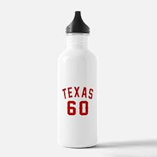 Texas 60 Birthday Desi Water Bottle