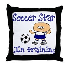 Soccer Star Andrew Throw Pillow