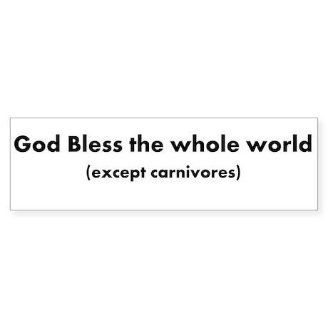 except Carnivores Sticker (Bumper)