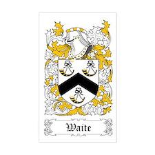 Waite [English] Sticker (Rectangular)