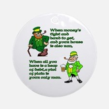 Irish Sayings, Toasts and Ble Ornament (Round)