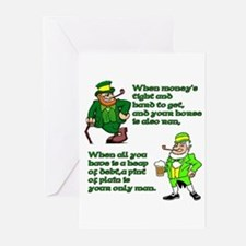 Irish Sayings, Toasts and Ble Greeting Cards (Pack