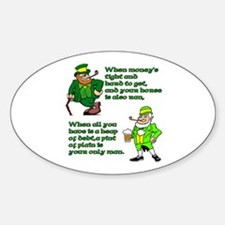 Irish Sayings, Toasts and Ble Oval Decal