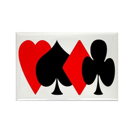 Red/Black Suit Design Rectangle Magnet