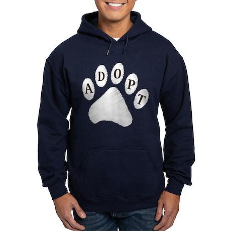 Animal Adoption Paw Hoodie (dark)