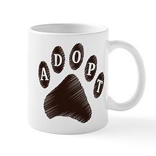 Animal Adoption Paw Mug