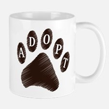 Animal Adoption Paw Small Small Mug