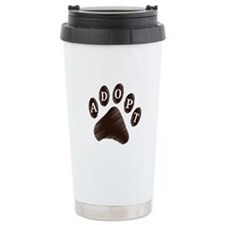 Animal Adoption Paw Travel Coffee Mug
