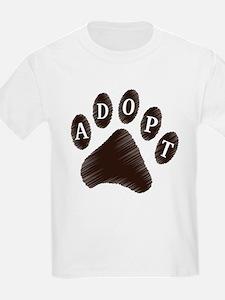 Animal Adoption Paw T-Shirt