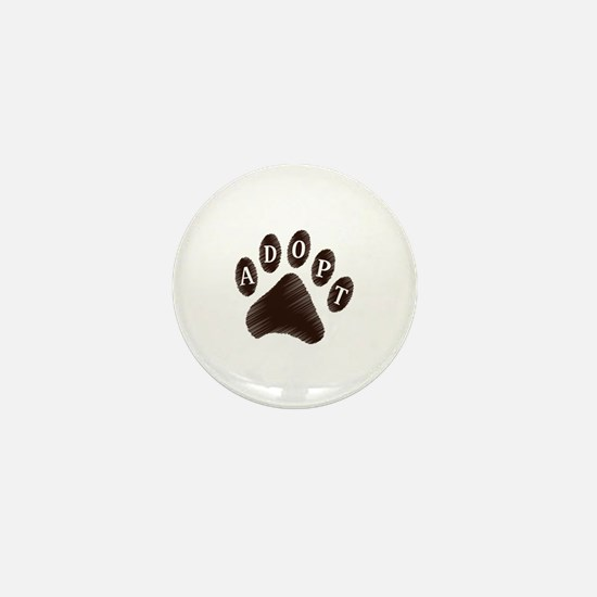 Animal Adoption Paw Mini Button