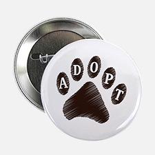 """Animal Adoption Paw 2.25"""" Button"""